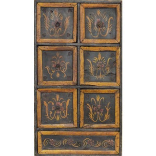 Antique Hand-Painted Indian Jewelry Chest
