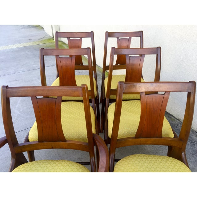 Image of Mid Century Mod Curved Tailback Dining Chairs - 6