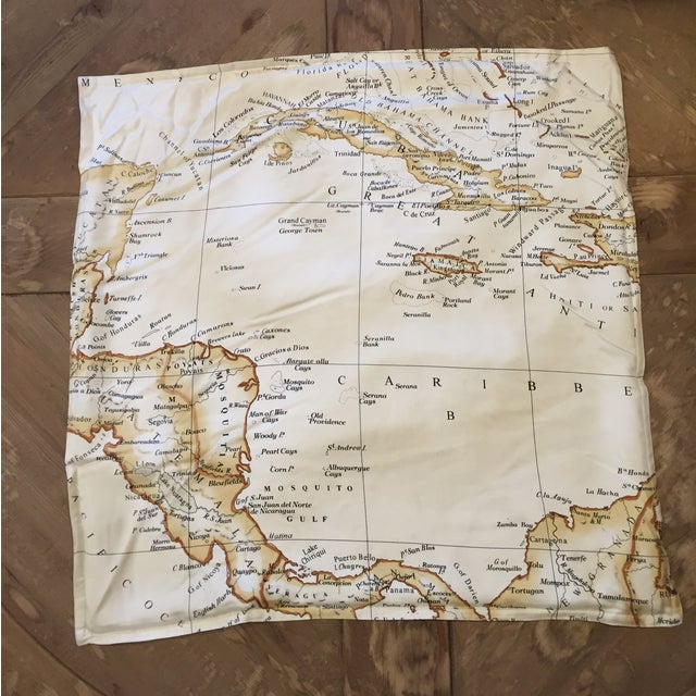 Williams-Sonoma Silk Map Pillow Cover - Image 4 of 5