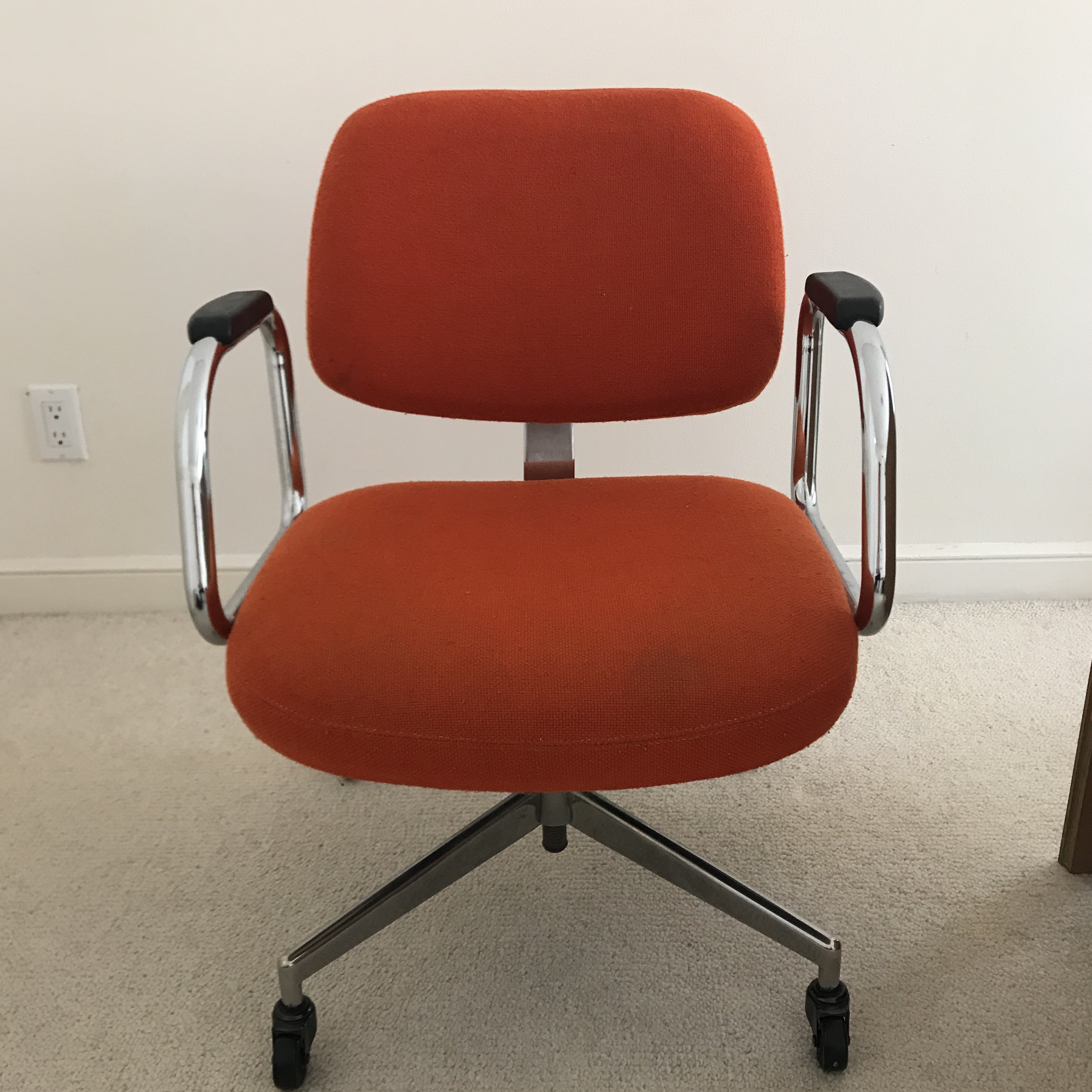 High Quality Mid Century Modern Red Office Chair By Harter Furniture Company   Image 2  Of 5
