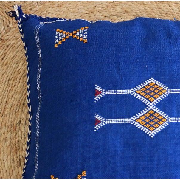 Moroccan Indigo Moon Sabra Cactus Silk Pillow - Image 3 of 3