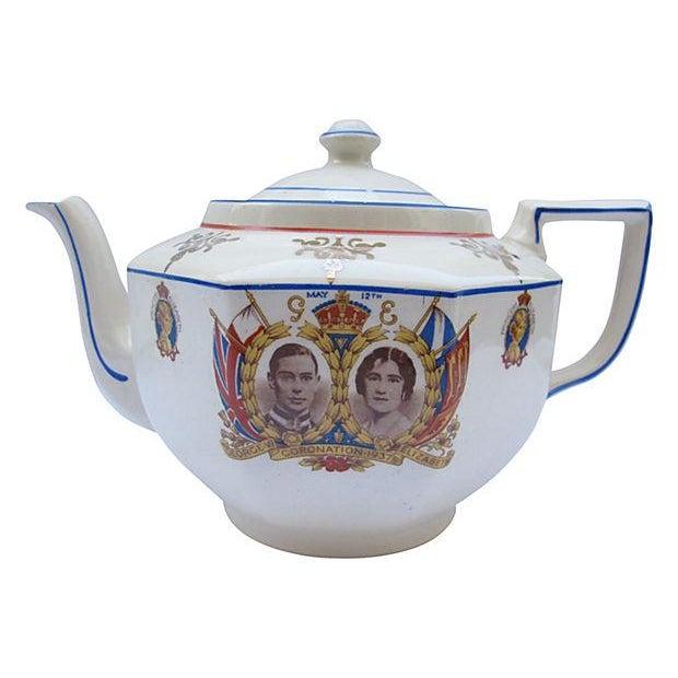 Image of 1937 King George VI Coronation Tea Pot