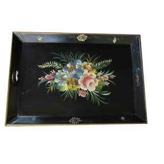 French Tole Ware Serving Tray