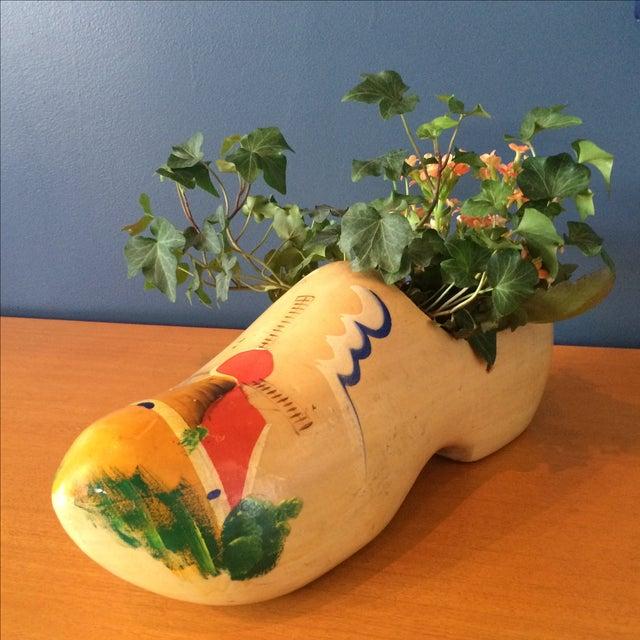 Dutch Wood Clog Planter - Image 3 of 6