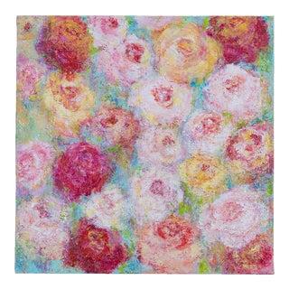 """Roses for Spring"", Original Mixed Media Painting, Artist Sheema Muneer"