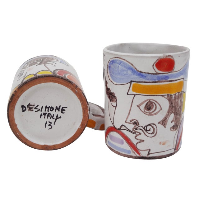 Ceramic Desimone Mugs - Pair - Image 5 of 7