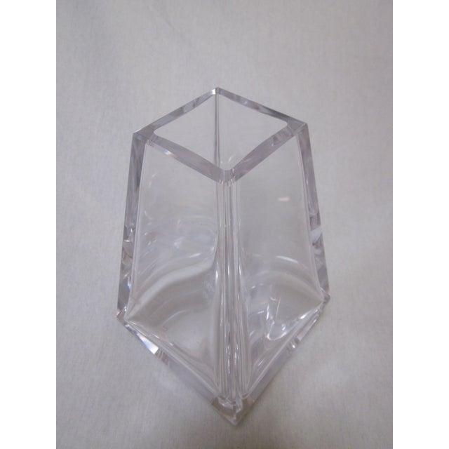 Image of Heavy Modernist Glass Movado Vase