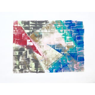 "Martha Holden ""Color Bricks"" Mono Print"