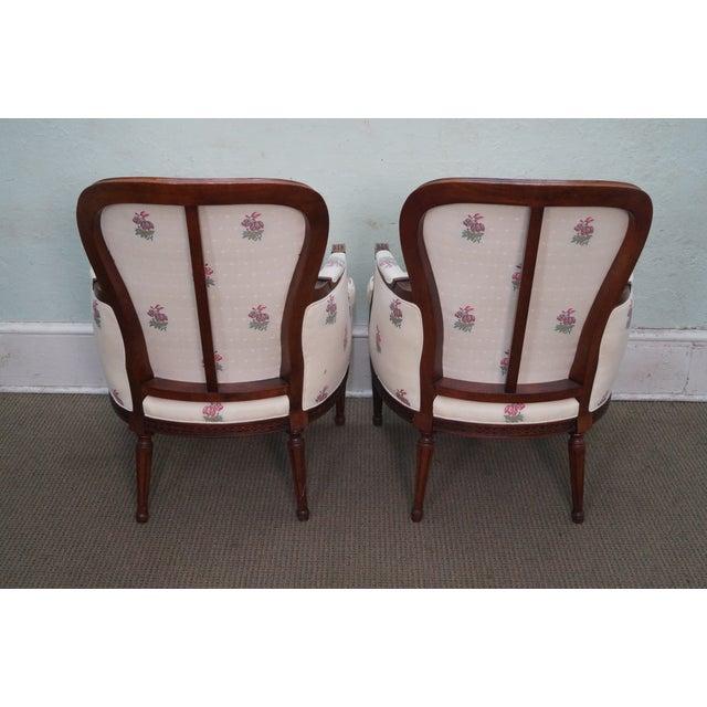 Kravet Mahogany French Louis XVI Chairs - Pair - Image 4 of 10
