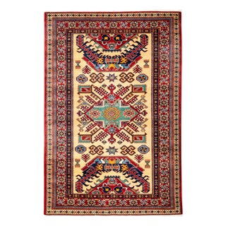"""New Traditional Hand Knotted Area Rug - 4'3"""" x 6'3"""""""
