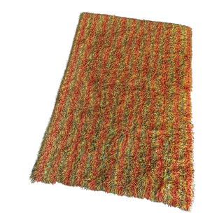 1970's Mid-Century Multi Colored Shag Rug - 6′ × 9′