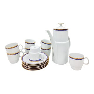 Vintage Blue & Gold Demitasse Set