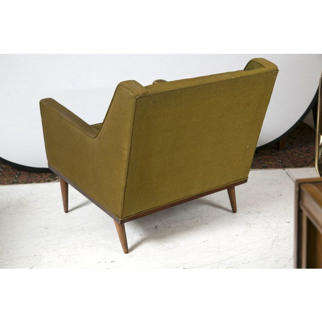 Milo Baughman Vintage 1950s Green Chairs - A Pair - Image 6 of 6