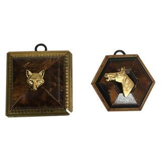 Antique Frames W/ Fox & Horse Heads