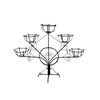 1890s Wrought Iron Patio Plant Stand