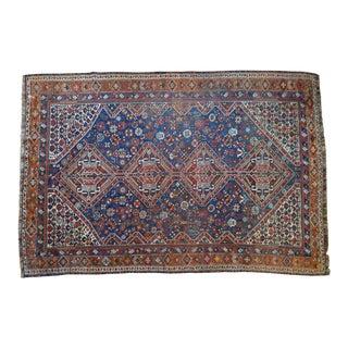 """Vintage Persian Qashqai Tribal Rug - 7'1"""" x 10'3"""""""