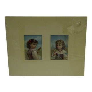"Circa 1880 ""Little Girls"" Matted Prints"