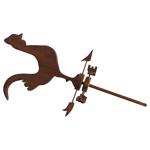 Image of Wooden Rooster Weathervane