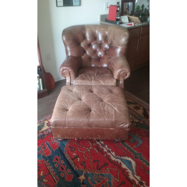 Ralph Lauren Writers Chair & Ottoman - Image 2 of 4