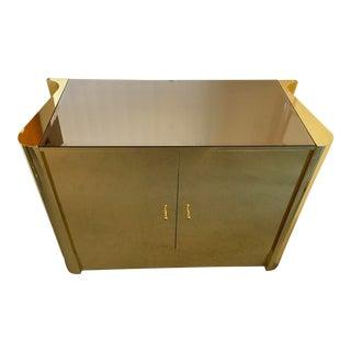 Deco Style Brass & Mirror Credenza