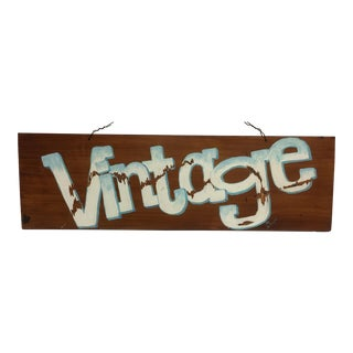 VINTAGE Hand Painted Folk Art Sign by Michael Toupe