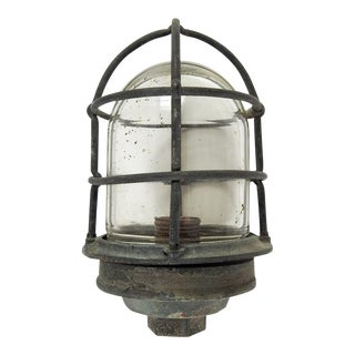 Antique Brass Russell & Stoll Marine Industrial Cage