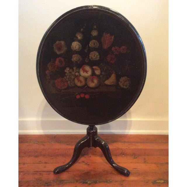18th Century Dutch Tilt Top Table With Still Life - Image 2 of 11