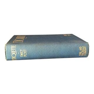 """Antique Art Deco """"Etiquette"""" Book by Emily Post"""