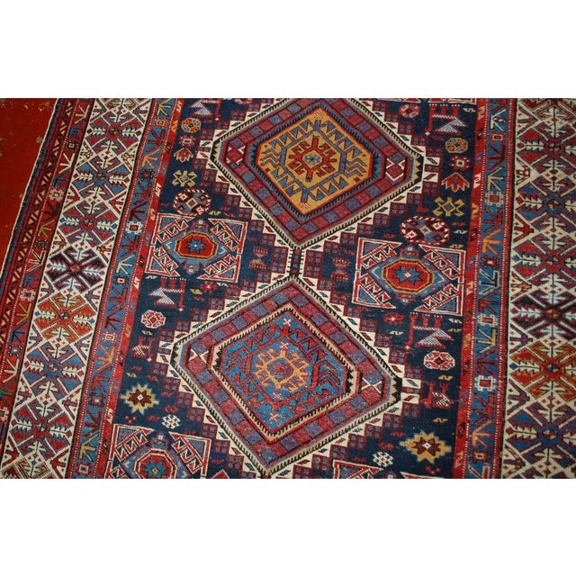 Antique Caucasian Shirvan Rug- 4′9″ × 7′10″ - Image 3 of 10