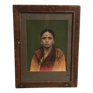 Vintage Indian Hand Tinted Photograph