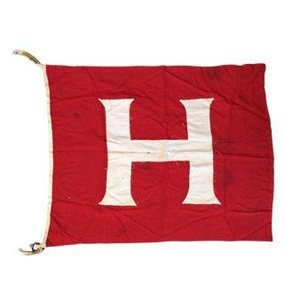 Vintage Red Sailing Flag - H