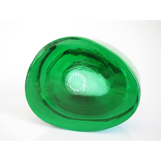 Image of V. Nason & C. Emerald Murano Glass Paper Weight