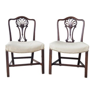 18th Century English Racquet Back Chairs - A Pair