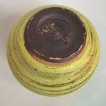Image of Mid Century Chartreuse Yellow Studio Pottery Vase