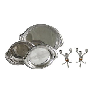 Rogers Bros. Flair Candelabra & Serving Trays - Set of 6