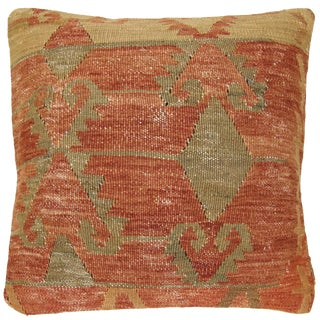 Rug & Relic Vintage Rustic Red Kilim Pillow