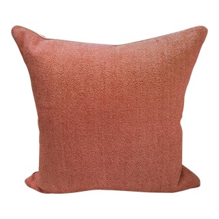 Orange Diamond Woven Pillow