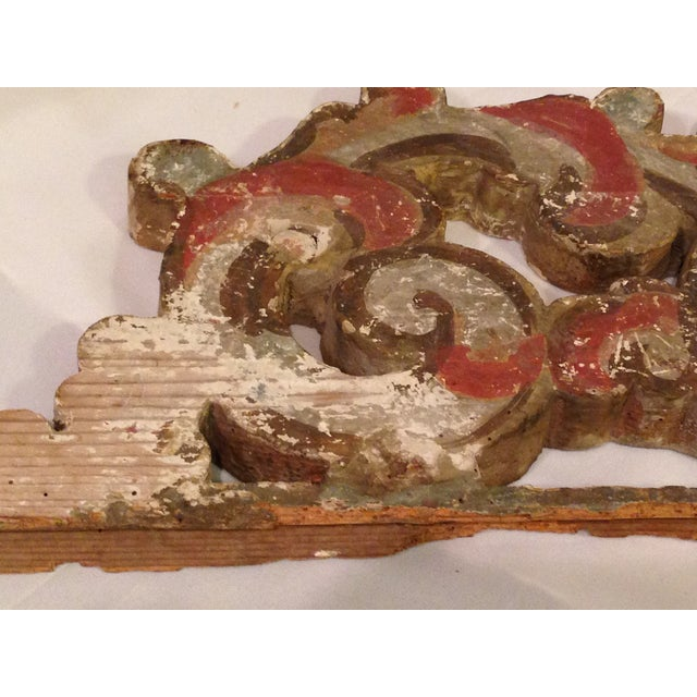 19th C. French Gold Leaf Wooden Fragment - Image 4 of 5