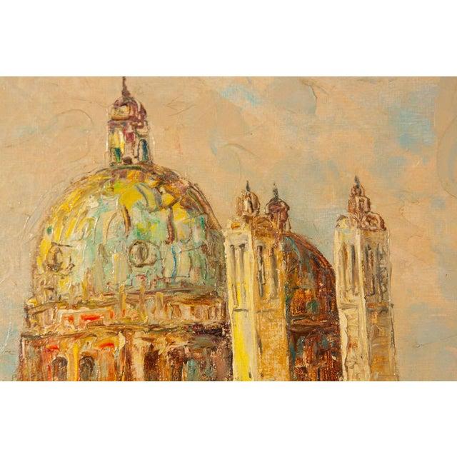Image of Oil Painting of Venice Harbor by T.L. Novaretti