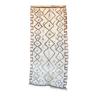 Vintage Azilal Moroccan Rug - 4′6″ × 9′9″
