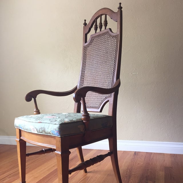 Spanish Revival Cane Back Dining Chairs - Set of 6 - Image 7 of 11