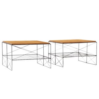 Pair of Tables in the Style of Charles and Ray Eames