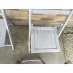 Image of French Grey Folding Chairs - Set of 5