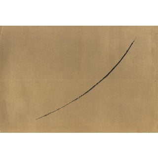 Francois Fiedler 'Black Line on Gold Background' Lithograph
