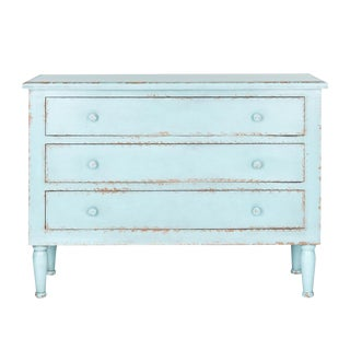 Light Blue Three-Drawer Chest