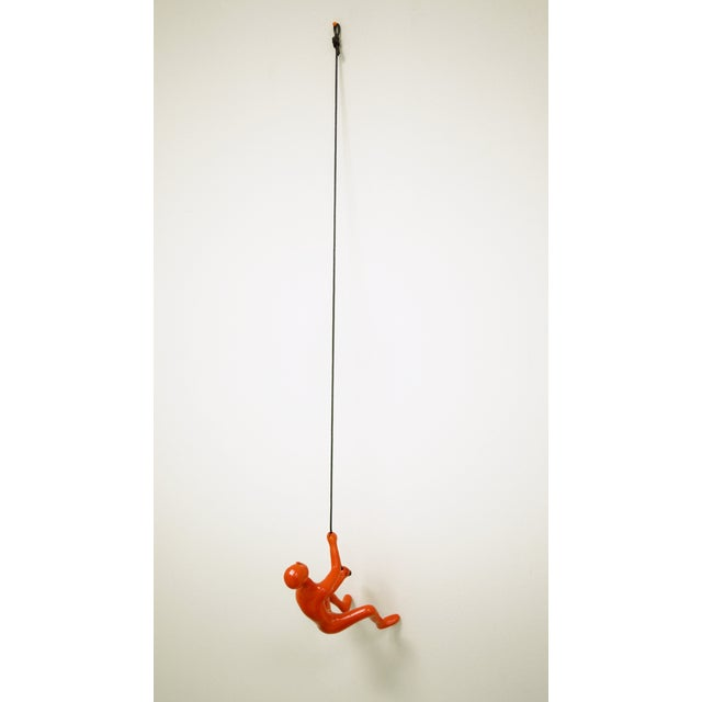 Orange Climbing Man Wall Art Sculpture - Image 5 of 5