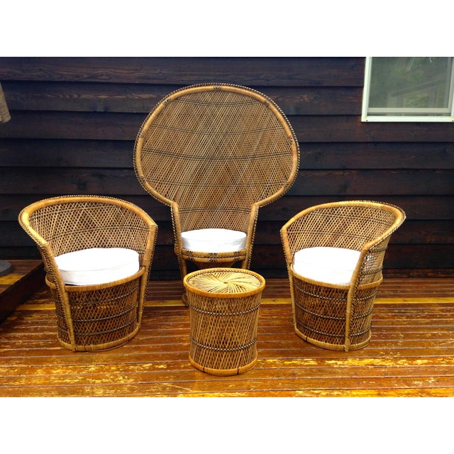 Vintage Wicker Side Table - Image 5 of 5