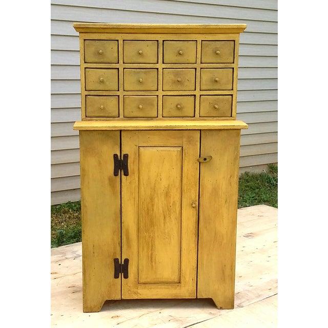 Handmade Yellow Apothecary Cupboard - Image 3 of 10