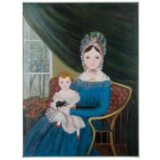 Primitive Portrait, Woman & Child