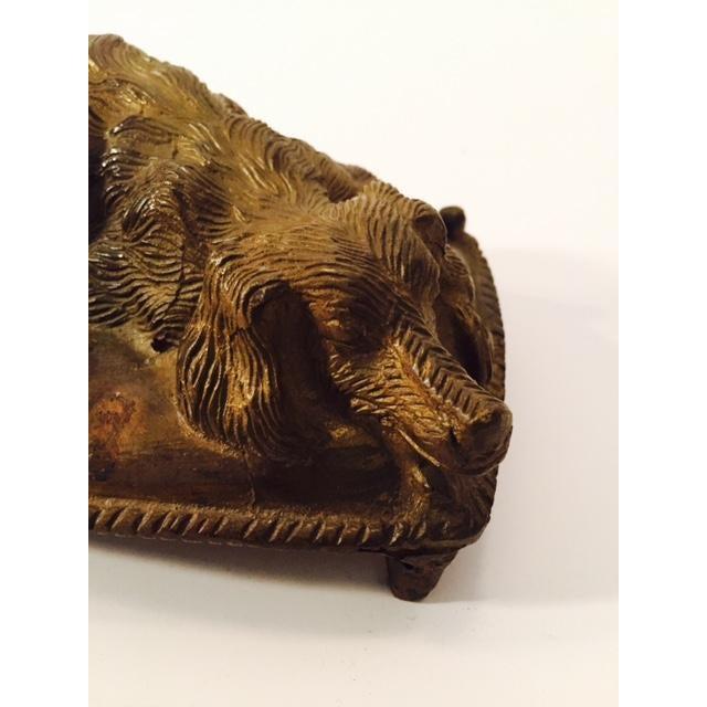 Vintage 1920s Bronze Sleeping Dog Figure - Image 5 of 6